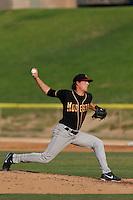 Daniel Winkler #19 of the Modesto Nuts pitches against the High Desert Mavericks at Stater Bros. Stadium on June 29, 2013 in Adelanto, California. Modesto defeated High Desert, 7-2. (Larry Goren/Four Seam Images)