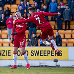 23.02.2020 St Johnstone v Rangers: Florian Kamberi scores for Rangers and celebrates with Ianis Hagi