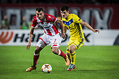 14th September 2017, Red Star Stadium, Belgrade, Serbia; UEFA Europa League Group stage, Red Star Belgrade versus BATE; Midfielder Nenad Krsticic of Red Star Belgrade in attacking action