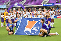 Orlando, FL - Saturday July 20, 2019:  Sky Blue FC Starting XI during a regular season National Women's Soccer League (NWSL) match between the Orlando Pride and the Sky Blue FC at Exploria Stadium.