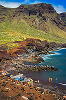 people, bathing in the beach, Punta de Teno, Buenavista del Norte, Tenerife, Canary Islands, Spain, Atlantic Ocean