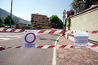Pontida (Bergamo), 22 apr 2017, Festival antirazzista, migrante e terrone. Citt&agrave; chiusa per ordinanza del sindaco.<br /> Pontida (Bergamo), 22 Apr 2017, Anti-racist, migrant and Southern Italian festival.Streets and shops closed following the order of the mayor in the city.