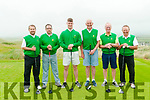 Kerry Federation Golf Sheild: The Tralee GC team that took part in the Kerry Federation Golf Sheild at Ballybunion Golf club on Saturday last. L-R: John O'Brien, Alan O'Connor, Ciaran Crowley, John Murphy, Teddy Reynolds & Fergus Kelly.
