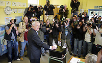 24/5/'07.An Taoiseach Bertie Ahern at his polling station in Drumcondra at National School Casting his vote today..PIC Collins Photos..