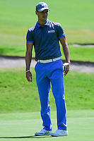 Martin Kaymer (GER) after barely missing his putt on 1 during round 1 of the World Golf Championships, Mexico, Club De Golf Chapultepec, Mexico City, Mexico. 3/2/2017.<br /> Picture: Golffile | Ken Murray<br /> <br /> <br /> All photo usage must carry mandatory copyright credit (&copy; Golffile | Ken Murray)