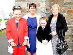 Aimee Gorman from Callystown NS who received confirmation at St Michael's church Clogherhead pictured with mam Collette, sister Abagail and grandmother Bernadette Hobbs. Photo: Colin Bell/pressphotos.ie