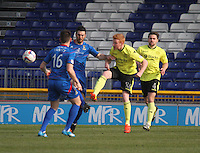 Conor Newton (24) clears the ball in the Inverness Caledonian Thistle v St Mirren Scottish Professional Football League Premiership match played at the Tulloch Caledonian Stadium, Inverness on 29.3.14.