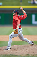 Salem Red Sox relief pitcher Matthew Gorst (31) in action against the Winston-Salem Dash at BB&T Ballpark on April 22, 2018 in Winston-Salem, North Carolina.  The Red Sox defeated the Dash 6-4 in 10 innings.  (Brian Westerholt/Four Seam Images)