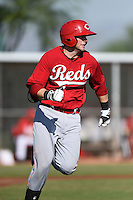 Cincinnati Reds first baseman Paul Kronenfeld (27) during an Instructional League game against the Los Angeles Dodgers on October 11, 2014 at Goodyear Training Complex in Goodyear, Arizona.  (Mike Janes/Four Seam Images)