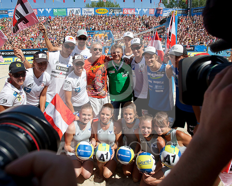 06.08.2011, Klagenfurt, Strandbad, AUT, Beachvolleyball World Tour Grand Slam 2011, im Bild , EXPA Pictures © 2011, PhotoCredit EXPA Erwin Scheriau