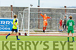 Kerry keeper Alex O'Connor put this Cobh Ramblers effort out of danger in the SSE Airtricity U19 League in Mounthawk Park on Sunday