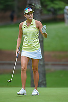 Lexi Thompson (USA) sinks her putt on 10 during round 1 of the U.S. Women's Open Championship, Shoal Creek Country Club, at Birmingham, Alabama, USA. 5/31/2018.<br /> Picture: Golffile   Ken Murray<br /> <br /> All photo usage must carry mandatory copyright credit (© Golffile   Ken Murray)