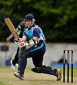 Scottish Saltires V Surry Lions - CB40 Cricket - Citylets Grange ground in Edinburgh - Saltires batsman Neil McCallum - McCallum went on to score 53 - Lions keeper is Steve Davies - Picture by Donald MacLeod - 15.05.11 - 07702 319 738 - www.donald-macleod.com - clanmacleod@btinternet.com