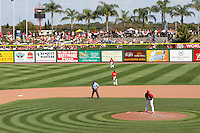 Philadelphia Phillies spring training game against the Baltimore Orioles at Bright House Field in Clearwater, Florida;  March 8, 2011.  Photo By Mike Janes/Four Seam Images