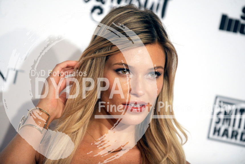 Samantha Hoopes attends the Sports Illustrated Swimsuit 2016 - NYC VIP press event at Brookfield Place on February 16, 2016 in New York City.