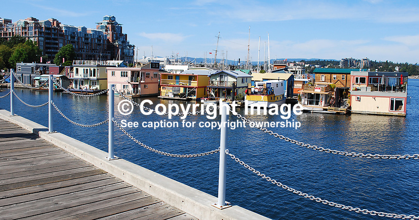 Victoria, British Columbia, Canada, downtown, harbour, houseboats, Fisherman's Wharf, 200809081128..Copyright Image from Victor Patterson, 54 Dorchester Park, Belfast, N Ireland, BT9 6RJ...Tel: +44 28 9066 1296.Mob: +44 7802 353836.Email: victorpatterson@mac.com..IMPORTANT: Go to www.victorpatterson.com and click on Terms & Conditions