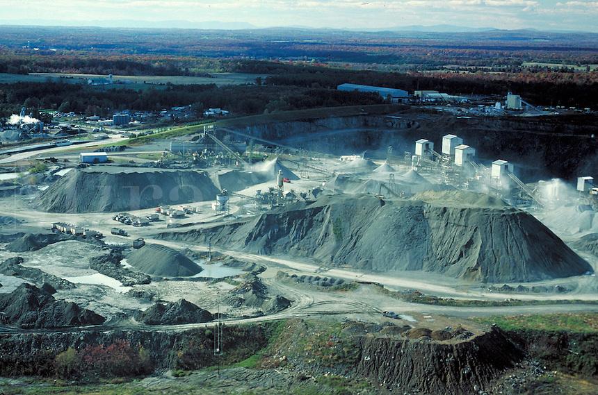 Rock quarry in Virginia. Virginia.