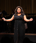 Amber Riley (GLEE)  during the Curtain Call for Encores! 'Cotton Club Parade' at City Center in New York City on 11/17/2012