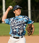OXFORD, CT-062217JS21- Oxford's Mike Tacinelli (14) delivers a pitch during their American Legion Zone 5 game against Oxford Post 195  Thursday at Oxford High School. Jim Shannon Republican-American