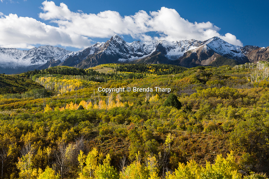 Snowcapped Mountains of the Sneffels Wilderness, Dallas Divide, Colorado.
