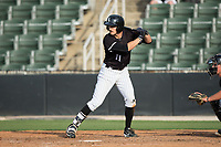 Jameson Fisher (11) of the Kannapolis Intimidators at bat against the Hickory Crawdads in game one of a double-header at Kannapolis Intimidators Stadium on May 19, 2017 in Kannapolis, North Carolina.  The Crawdads defeated the Intimidators 5-4.  (Brian Westerholt/Four Seam Images)