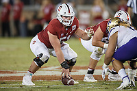 Stanford, CA - October 05, 2019: Drew Dalman during the Stanford vs Washington football game Saturday night at Stanford Stadium.<br /> <br /> Stanford won 23-13.