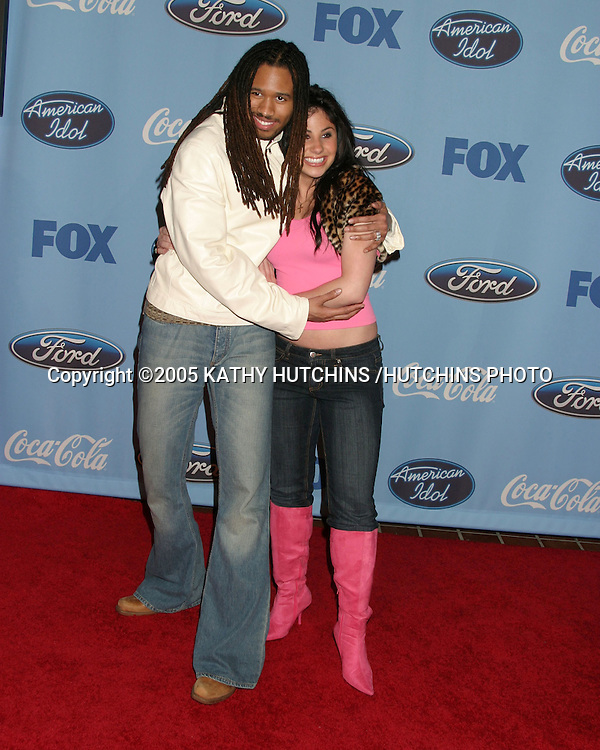 ANWAR ROBINSON.MIKALAH GORDON.AMERICAN IDOL FINALIST PARTY.W. HOLLYWOOD, CA.MARCH 9, 2005.©2005 KATHY HUTCHINS /HUTCHINS PHOTO.......