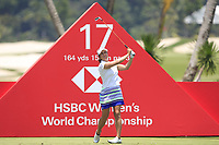 Marina Alex (USA) in action on the 17th during Round 4 of the HSBC Women's World Championship 2018 at Sentosa Golf Club on the Sunday 4th March 2018.<br /> Picture:  Thos Caffrey / www.golffile.ie<br /> <br /> All photo usage must carry mandatory copyright credit (&copy; Golffile | Thos Caffrey)