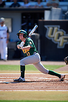 Siena Saints shortstop Devan Kruzinski (12) bats during a game against the UCF Knights on February 17, 2019 at John Euliano Park in Orlando, Florida.  UCF defeated Siena 7-1.  (Mike Janes/Four Seam Images)