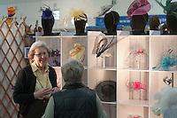 Annie Lamb (www.anniel.co.uk), milliner at the Craft & Design Show (www.craftinfocus.com), Spectrum Leisure Centre, Guildford.