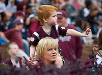 Super Bulldog Weekend Maroon &amp; White Game: fans.<br /> (photo by Russ Houston / &copy; Mississippi State University)