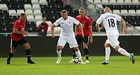Lee Trundle of Swansea (C) in action during the Swansea Legends v Manchester United Legends at The Liberty Stadium, Swansea, Wales, UK. Wednesday 09 August 2017