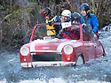 26/12/17<br /> <br /> Competitors brave freezing conditions as they plunge over a weir on the river Derwent near the end of the Matlock Bath Raft Race in Derbyshire.<br /> <br /> All Rights Reserved F Stop Press Ltd. +44 (0)1335 344240 +44 (0)7765 242650  www.fstoppress.com
