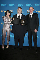BEVERLY HILLS, CA - FEBRUARY 3: Sally Hawkins, Guillermo del Toro and Richard Jenkins   in the press room at the 70th Annual Directors Guild of America Awards (DGA, DGAs),  at The Beverly Hilton Hotel in Beverly Hills, California on February 3, 2018.  <br /> CAP/MPI/FS<br /> &copy;FS/Capital Pictures