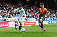 Blackburn Rovers' Bradley Dack under pressure from Swansea City's Declan John<br /> <br /> Photographer Kevin Barnes/CameraSport<br /> <br /> The EFL Sky Bet Championship - Blackburn Rovers v Swansea City - Sunday 5th May 2019 - Ewood Park - Blackburn<br /> <br /> World Copyright © 2019 CameraSport. All rights reserved. 43 Linden Ave. Countesthorpe. Leicester. England. LE8 5PG - Tel: +44 (0) 116 277 4147 - admin@camerasport.com - www.camerasport.com