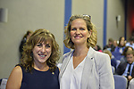 Hempstead New York, October 5, 2018. L-R, Democrats New York Assemblywoman District 9 CHRISTINE PELLEGRINO and Nassau County Executive LAURA CURRAN pose before start of U.S. Sen. Gillibrand's Town Hall Meeting at Hofstra University on Long Island.
