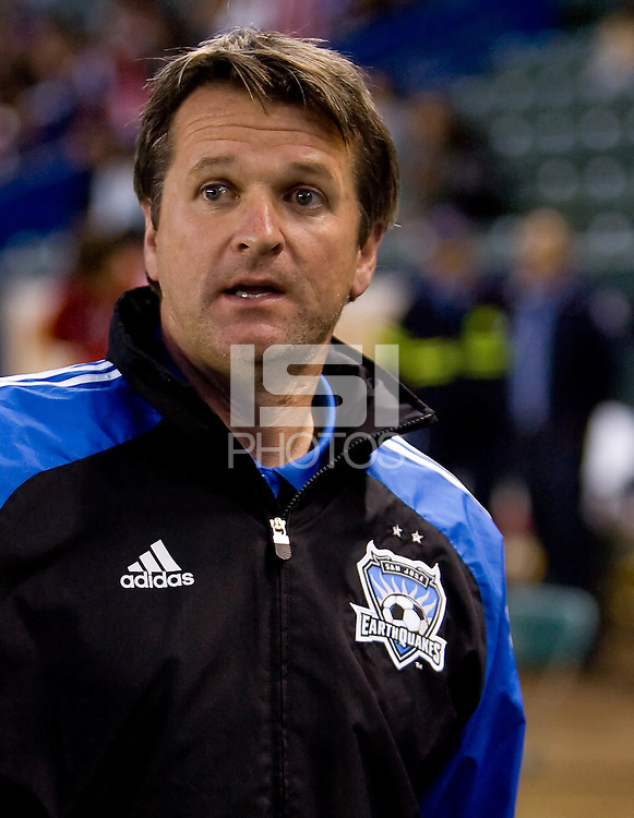 San Jose Earthquakes headcoach Frank Yallop. CD Chivas USA defeated the San Jose Earthquakes 3-2 at Home Depot Center stadium in Carson, California on Saturday April 24, 2010.  .