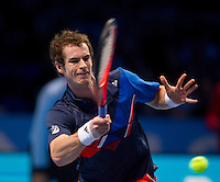 Andy MURRAY(GBR) (3) against David FERRER (ESP) (5)  in the Round Robin Stage of the Barclays ATP World Tour Finals. ..ATP World Tour Finals Day 2, 21.11.2011, 21st November, 2011. 02, London. UK..@AMN IMAGES, Frey, Advantage Media Network, Level 1, Barry House, 20-22 Worple Road, London, SW19 4DH.Tel - +44 208 947 0100.email - mfrey@advantagemedianet.com.www.amnimages.photoshelter.com.