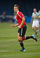 July 16, 2010 Jonny Evans No. 23 of Manchester United during an international friendly between Manchester United and Celtic FC at the Rogers Centre in Toronto.