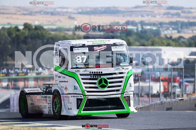 Finnish driver John Hemming belonging Finnish Team John Hemming during the fist race R1 of the XXX Spain GP Camion of the FIA European Truck Racing Championship 2016 in Madrid. October 01, 2016. (ALTERPHOTOS/Rodrigo Jimenez) /NortePHOTO /NORTEPHOTO.COM