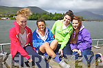 Enjoying the sun and the first regatta of the season in Cahersiveen on Sunday last were l-r; Saidbh Fitzgerald(Cahersiveen), Jemma Donnelly(Waterville), Dararca Donoghue(Renard) & Casey Donnelly(Waterville).
