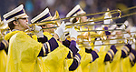 Washington Huskies band performs before the game against Oregon State Beavers at CenturyLink Field in Seattle, Washington on October 27, 2012.  The Huskies upset the 7th ranked Beavers 20-17.  ©2012. Jim Bryant Photo. ALL RIGHTS RESERVED.