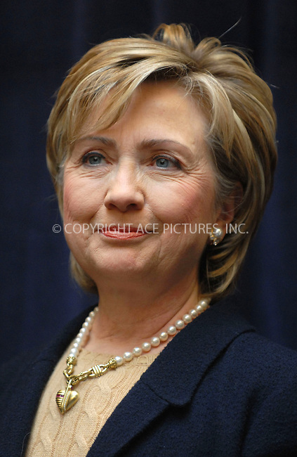 WWW.ACEPIXS.COM . . . . . ....January 21st, 2007, New York City. ....US Democratic Senator Hillary Clinton Speaks on Child Health Legislation to Make Health Insurance available to all Children at the Ryan Chelsea-Clinton Community Health Center. ....Please byline: KRISTIN CALLAHAN - ACEPIXS.COM.. . . . . . ..Ace Pictures, Inc:  ..(212) 243-8787 or (646) 769 0430..e-mail: info@acepixs.com..web: http://www.acepixs.com