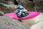 June 8, 2017 - Vail, Colorado, U.S. - South Carolina's, Adriene Levknecht,  powers through Homestake Creek's Little Sunshine Rapid in the Steep Creek competition during the GoPro Mountain Games, Vail, Colorado.  Adventure athletes from around the world meet in Vail, Colorado, June 8-11, for America's largest celebration of mountain sports, music, and lifestyle.