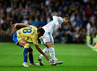 Real Madrid's Cristiano Ronaldo and UD Las Palmas'  Javi Castellano during La Liga match. November 5,2017. (ALTERPHOTOS/Inma Garcia)