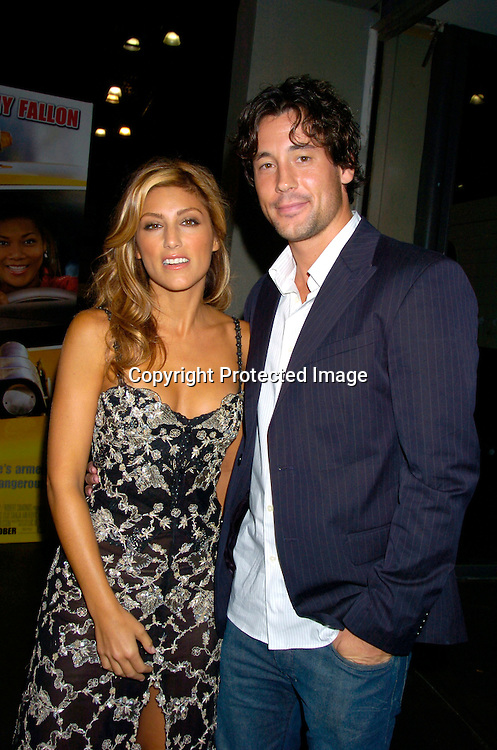 "Jennifer Esposito and boyfriend Tony Daly..at the World's First ever Taxi Cab Drive-in for ""Taxi"" ..on October 3, 2004 at the Jacob Javits Center. ..Photo by Robin Platzer, Twin Images"