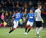 03.10.2019 Young Boys of Bern v Rangers: Alfredo Morelos celebrates with James Tavernier