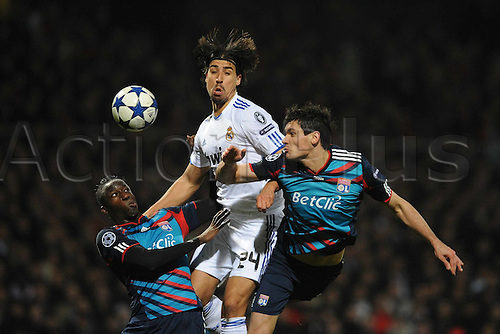 22.02.2011 Real Madrid will be favourites to progress to the Champions League quarter-finals for the first time in seven years after a 1-1 draw at the Stade de Gerland in Lyon. Picture shows Sami Khedira.