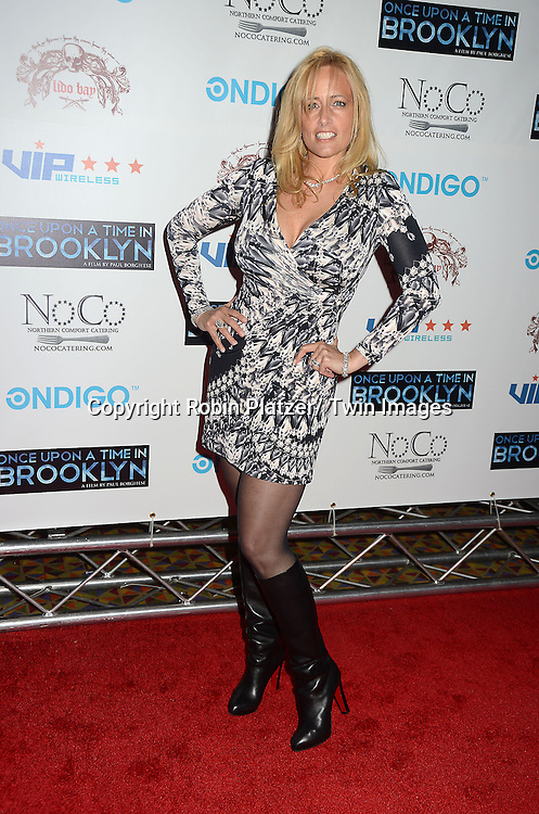 """actress Lorraine Ziff attends the New York Premiere of """"Once Upon A Time in Brooklyn""""  on April 29, 2013 at AMC Empire Theaters in New York City. The movie stars William DeMeo, Armand Assante, Lorraine Ziff, Vincent Pastore, Vinny Vella, Tony Darrow, Samantha Ivers. Lola Jimoh and Ice-T."""