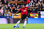 Antonio Valencia of Manchester United looks to bring the ball down during the UEFA Champions League 2018-19 match between Valencia CF and Manchester United at Estadio de Mestalla on December 12 2018 in Valencia, Spain. Photo by Maria Jose Segovia Carmona / Power Sport Images